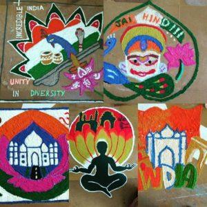 Rangolis made by participants during  Rang De-2016